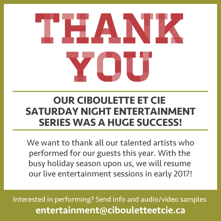 CetC Entertainment Thank You